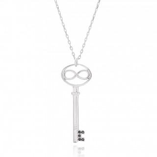Kalung Perak dengan kekunci...