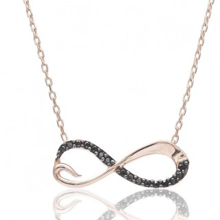 Infinite Necklace with sapphire stone style