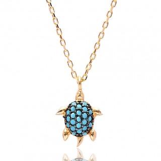 emas saduran kalung penyu