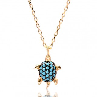 Silvery Necklace - Turquoise turtle Summer 2021-2022