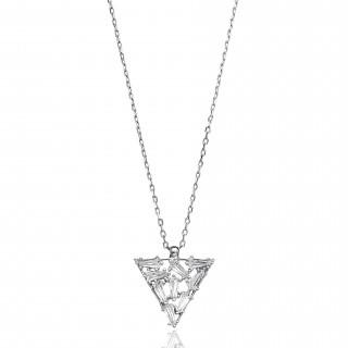 Silvery Necklace - Triangle body bottle