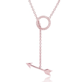Necklace Silver arrow and ring pendant