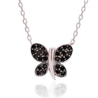 Silvery Necklace Black...