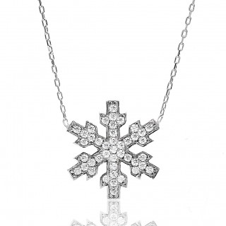Silvery Necklace snowflake...