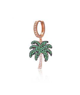 Bracelet argent plaqué or coeur diamanté