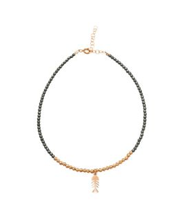 Fish silver anklet
