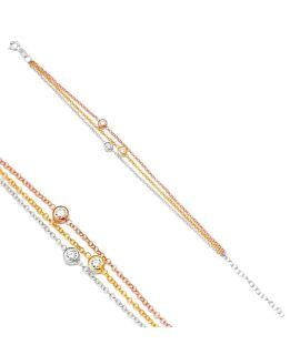 Bracelet triple chaînes...