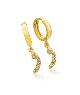 Earrings Arabic letter Waw...