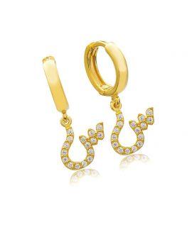 Earrings Siin Arabic letter...