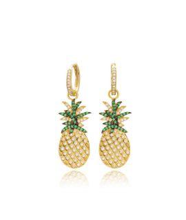 Earrings pineapple rings...