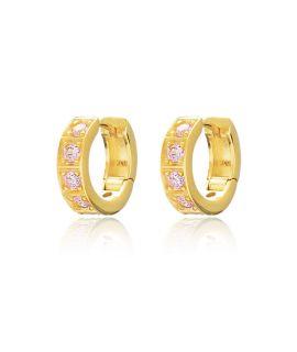 Earrings with pink diamonds...