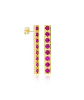 Earrings with ruby ??length