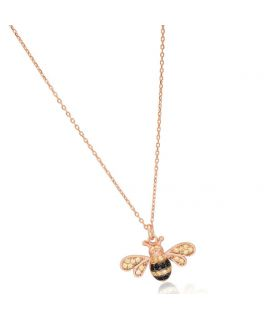 Necklace Bee and diamonds