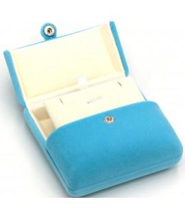 Kotak perhiasan slash M-biru