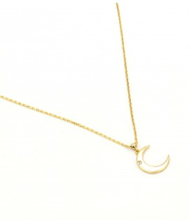 Gold plate Necklace -...