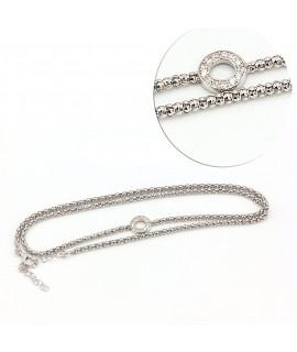 Silver multi-tower bracelet...