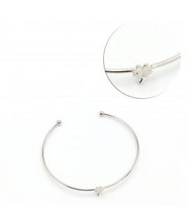 Silver junk bracelet with...
