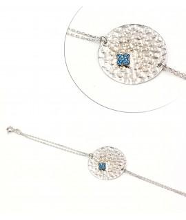 Silver hammered bracelet...