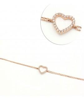 Bracelet gold plated heart...