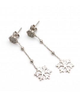 Snowflake chain earrings
