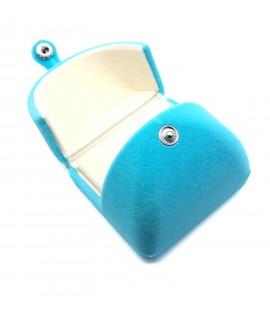 Kotak perhiasan saiz S-biru